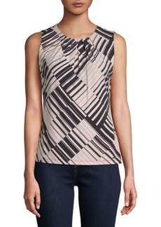Calvin Klein Printed Cotton Top