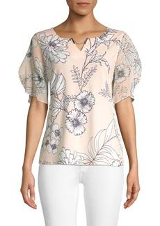 Calvin Klein Printed Floral Top