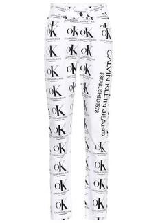 Calvin Klein Printed high-rise straight jeans
