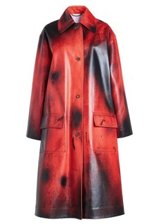 Calvin Klein Printed Leather Coat