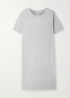 Calvin Klein Printed Melange Cotton-blend Jersey Nightdress