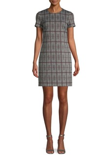 Calvin Klein Printed Mini Sheath Dress