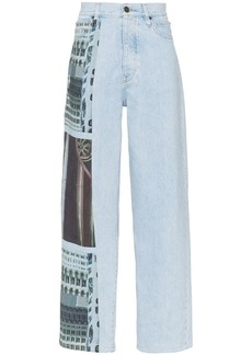 Calvin Klein Printed patch wide-leg jeans