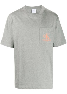 Calvin Klein printed-pocket logo t-shirt