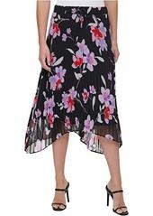 Calvin Klein Printed Skirt w/ Pleats
