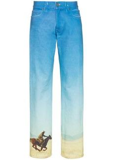 Calvin Klein printed straight leg jeans