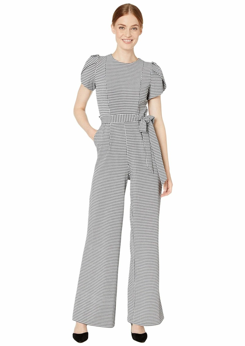 Calvin Klein Printed Tulip Sleeve Jumpsuit