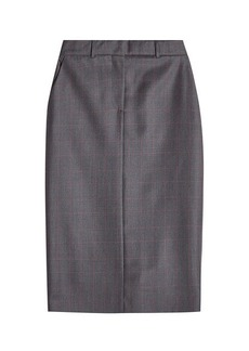 Calvin Klein Printed Wool Pencil Skirt with Silk