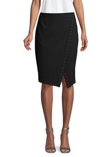 Calvin Klein Printed Wrap Skirt