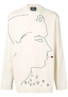 Calvin Klein profile print knit sweater