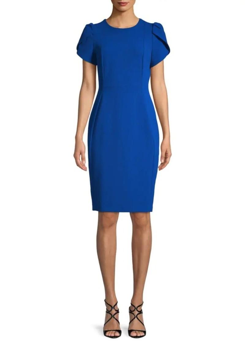 Calvin Klein Puff Shoulder Sheath Dress