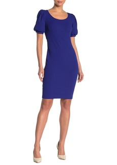 Calvin Klein Puff-Sleeve Sheath Dress