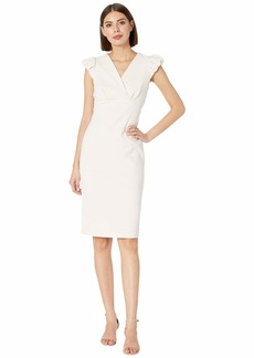 Calvin Klein Puff Sleeve Sheath Dress