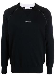 Calvin Klein logo-print jumper