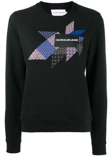 Calvin Klein quilt graphic sweatshirt