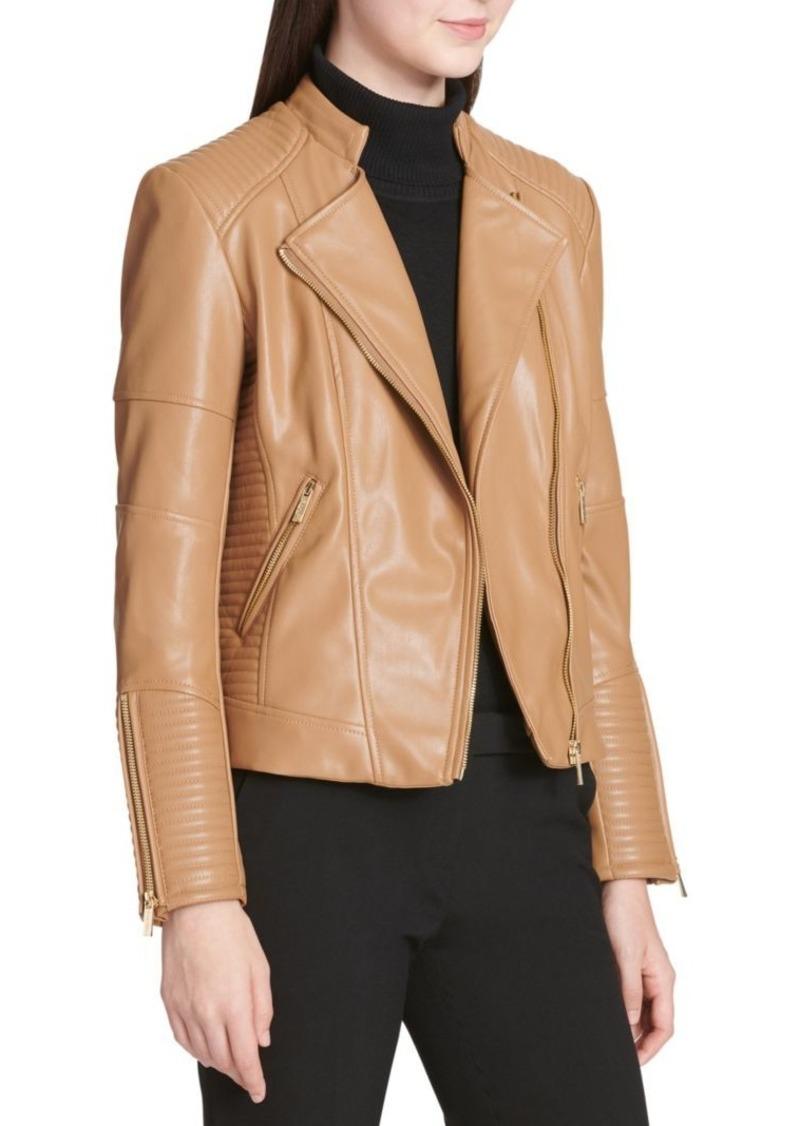 Calvin Klein Quilted Moto Wrap Jacket