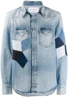 Calvin Klein quilted shirt jacket