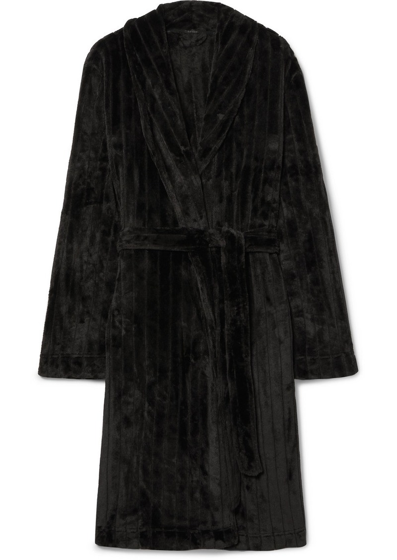 Calvin Klein Quilted Terry Robe