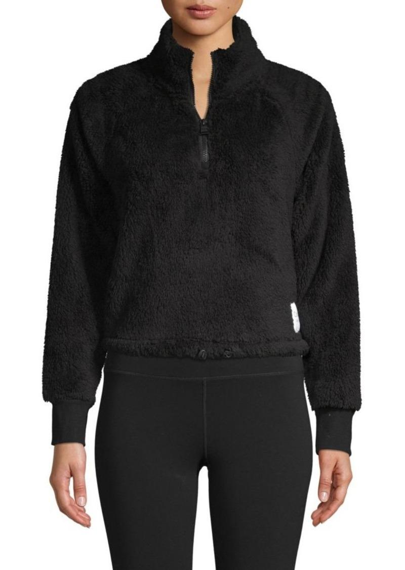 Calvin Klein Raglan-Sleeve Fleece Pullover