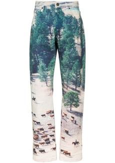 Calvin Klein ranch print straight leg jeans