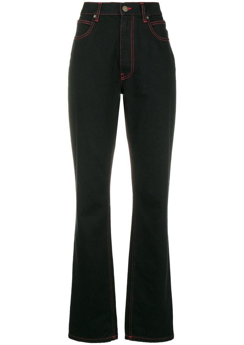 Calvin Klein X Andy Warhol cowboy print bootcut jeans