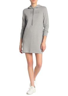 Calvin Klein Rhinestone Logo Hoodie Sweater Dress
