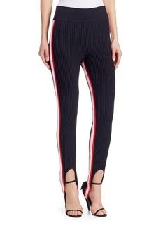 Calvin Klein Rib-Knit Stirrup Leggings