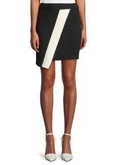 Calvin Klein Ribbed Asymmetric Hem Mini Skirt