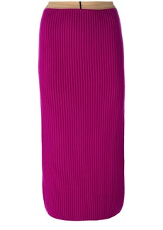 Calvin Klein ribbed bodycon mid-length skirt