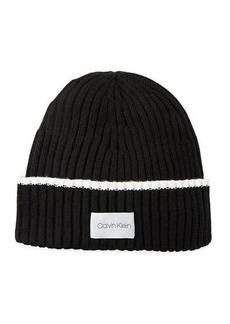 Calvin Klein Ribbed Knit Beanie