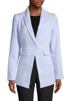 Calvin Klein Ribbed Single-Vent Blazer