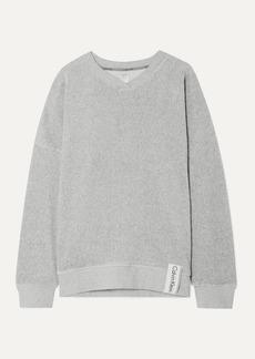 Calvin Klein Ribbed Stretch-velour Sweatshirt