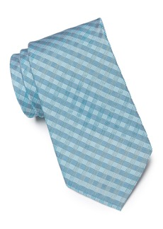 Calvin Klein Ridge Mini Check Silk Blend Tie