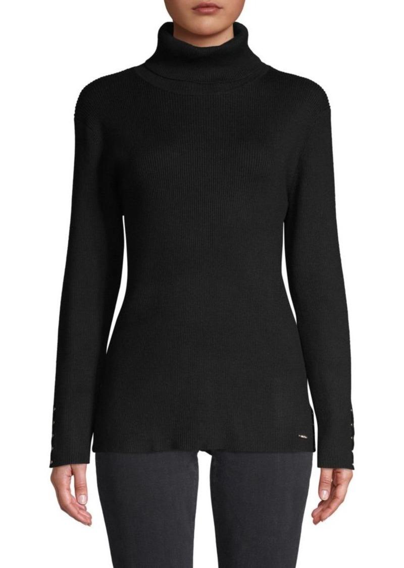 Calvin Klein Rivets Turtleneck Sweater
