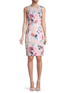 Calvin Klein Rose Floral Sheath Dress
