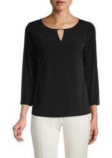 Calvin Klein Roundneck Long-Sleeve Top