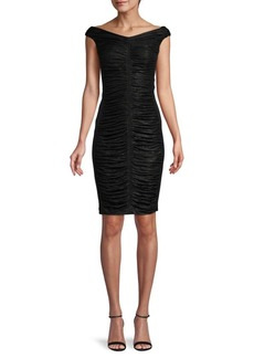 Calvin Klein Ruched Bateau Sheath Dress