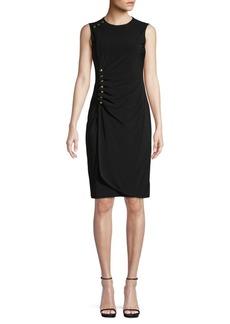 Calvin Klein Ruched Button Sheath Dress