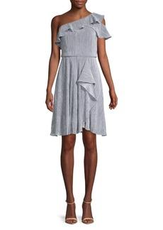 Calvin Klein Ruffle One-Shoulder Dress