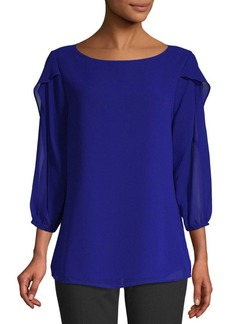 Calvin Klein Ruffle Sleeve Blouse