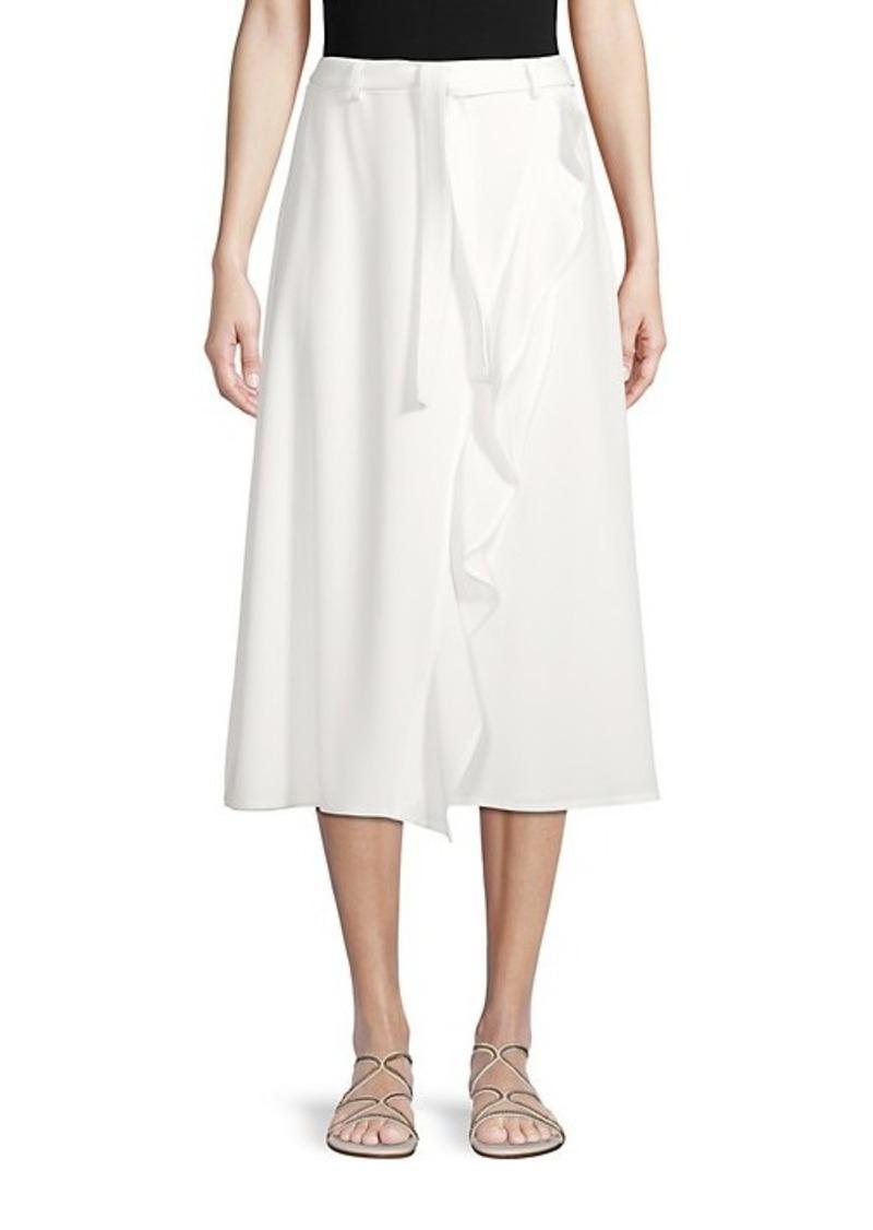 Calvin Klein Ruffle-Trimmed A-Line Skirt