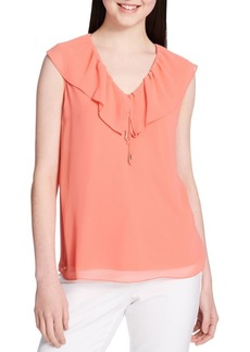 Calvin Klein Ruffle V-Neck Top