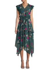 Calvin Klein Ruffled Floral Dress