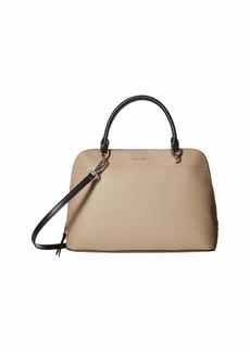 Calvin Klein Saffiano Leather Dome Satchel