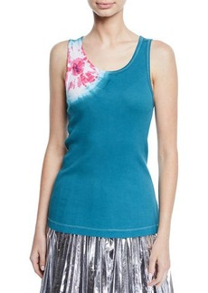Calvin Klein Scoop-Neck Sand-Dollar Print Tank Top