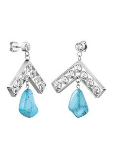 Calvin Klein Seductive Swarovski Crystal & Turquoise Drop Earrings