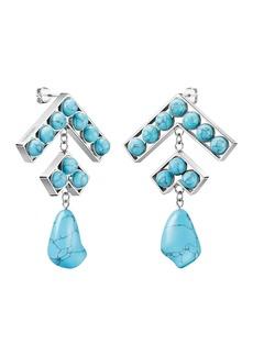 Calvin Klein Seductive Turquoise Drop Earrings