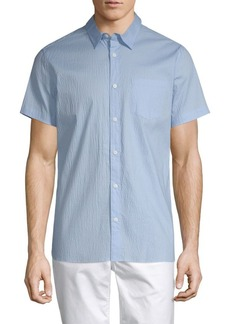 Calvin Klein Seersucker Stretch Cotton Shirt
