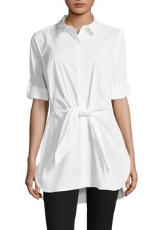 Calvin Klein Self-Tie Roll-Tab Tunic