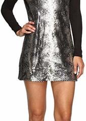 Calvin Klein Sequin Front Long Sleeve Dress